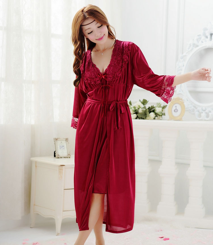 We even offer plus size wedding robe sets that are made for brides and their bridesmaids. You'll feel like the star of your own movie as you lounge elegantly in a long, sexy plus size lingerie gown .