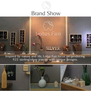 Image 5 - Lotus zabawa prawdziwe 925 srebro Handmade Fine Jewelry idealny lotos wzór kwiatowy wisiorek bez naszyjnik dla kobiet Femme