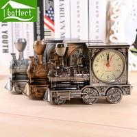 Family Decoration Alarm Clock Creative Classic Train Mute Snooze Digital Locomotive Clock Desk Bedroom For Kids