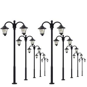 10pcs Model Railway Led Lamppost Lamps Street Lights HO Scale 6cm 12V New LYM18 model outdoor lamp yard light leds