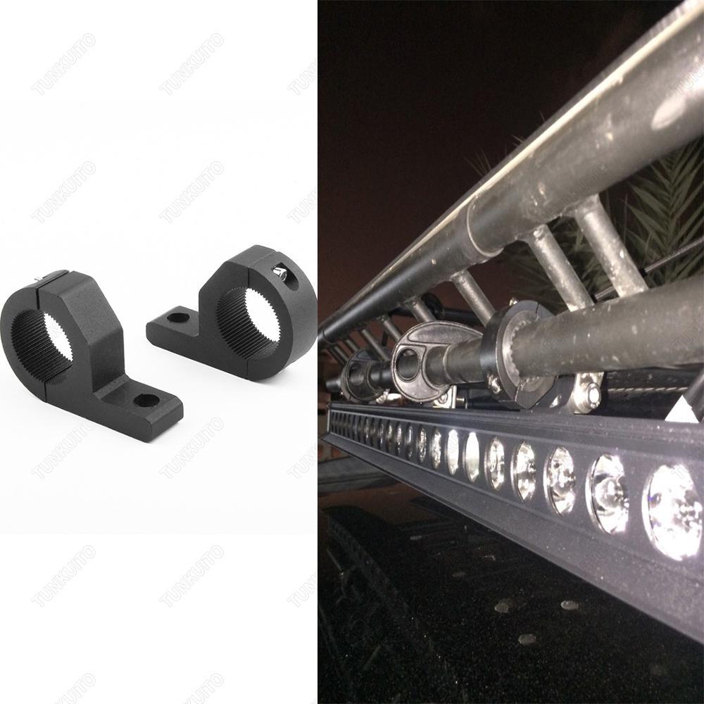 2x Mounting Bracket LED Light Bar Clamp Kits Truck Boat Universal Lamp Bracket