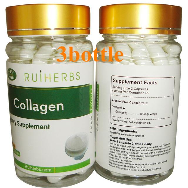 Pescado puro Colágeno Cápsula 3 Botella de 500 mg x 270 unids envío gratis