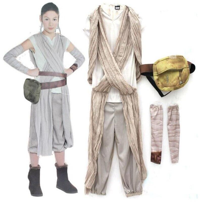 Star Wars Resistenza La Forza Risveglia Scavenger Rey Principessa Costume Cosplay Della Ragazza Dei Bambini del Vestito Del Partito di Halloween