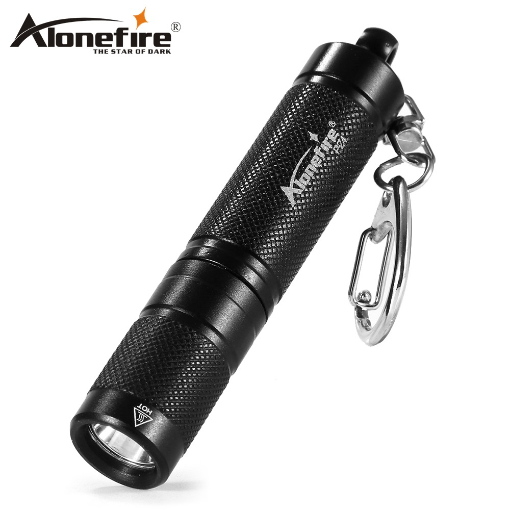 AloneFire P24 LED Flashlight Light Mini Bulb Lamp Key Chain Ring Keychain Clear Lamp Torch Keyring
