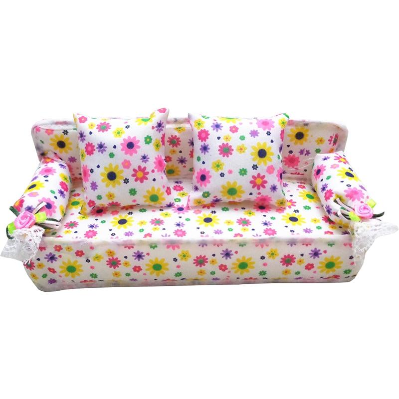 Kids Lovely Mini Dollhouse Furniture Flower Flower Cloth