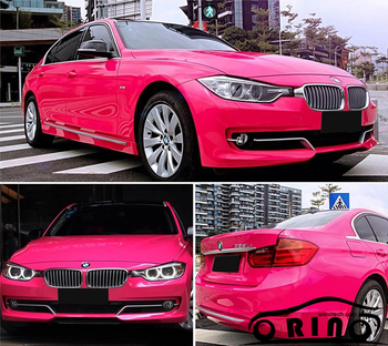 High Glossy Rose Red Vinyl Film ORINO Gloss Car Wrap Film With Bubble Free For Vehicle Car Full Body Wrapping Sticker Foil