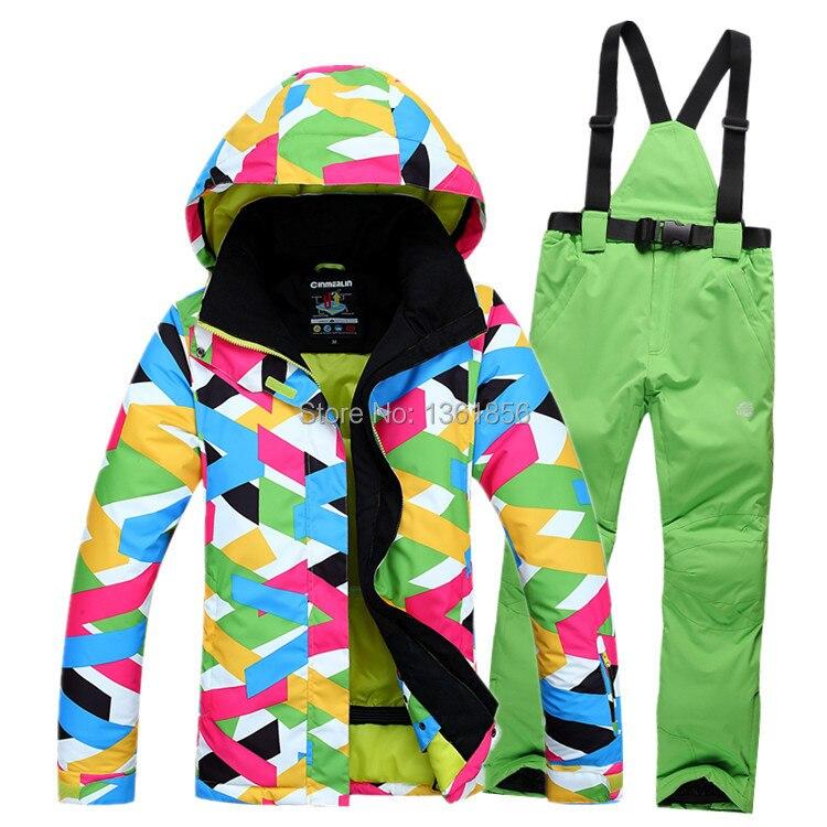 Prix pour Livraison gratuite ski costumes femmes de veste + pantalon, vêtements de planche à neige, snowboard ski vestes Coupe-Vent Imperméable Respirant