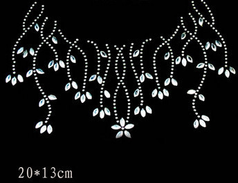 2pcs/lot  Shirt willow hot fix motif iron on crystal transfers design - Arts, Crafts and Sewing