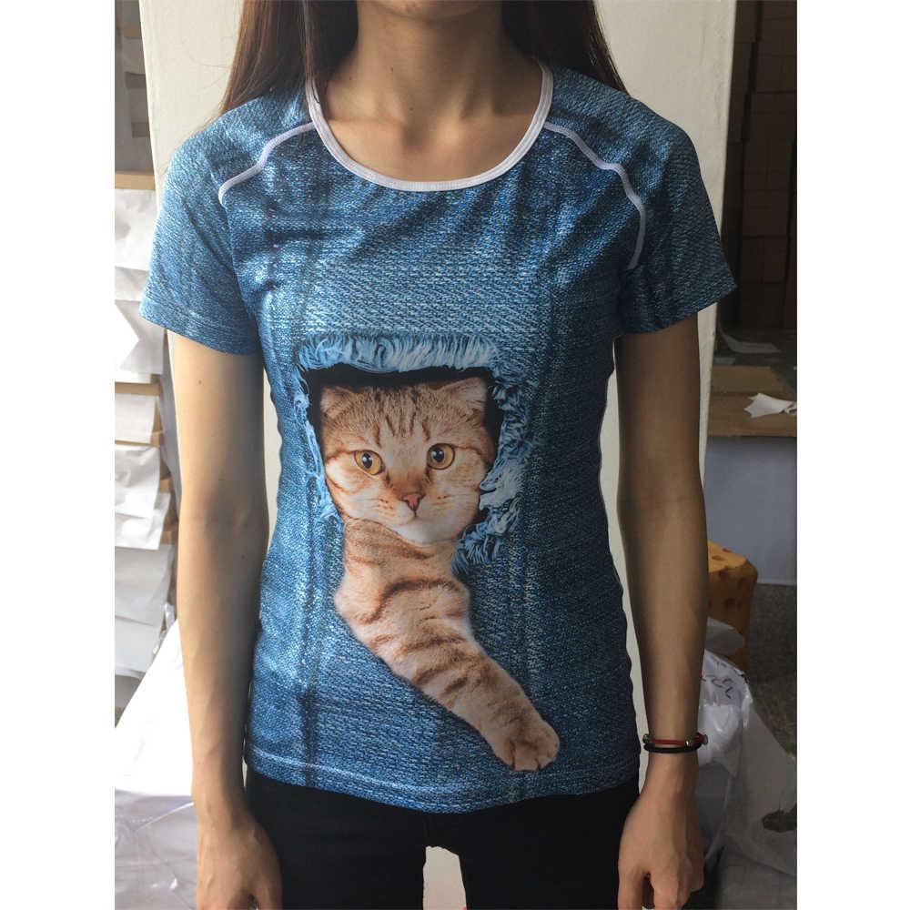 NoisyDesigns kobiet odzież tshirt kobiety koszula lato z krótkim rękawem 3D King Charles Spaniel pies T-shirt z nadrukiem topy Tee Tumblr