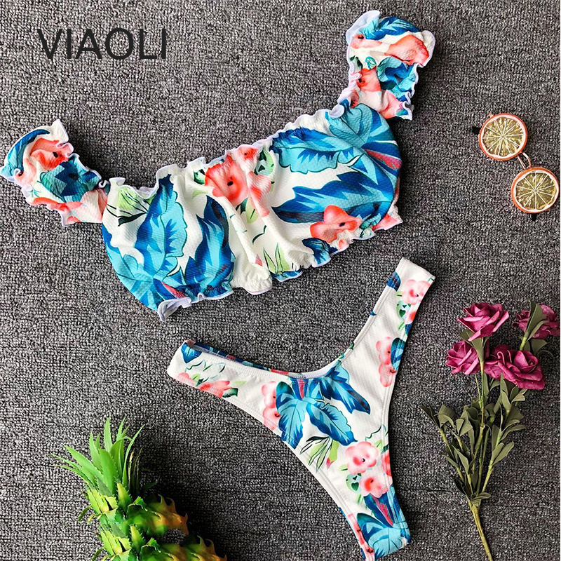 Sexy Bikinis Woman Bathing Suit Brazilian Bikini Set Biquini Swimming Suit Print Swimwear Women Swimsuit