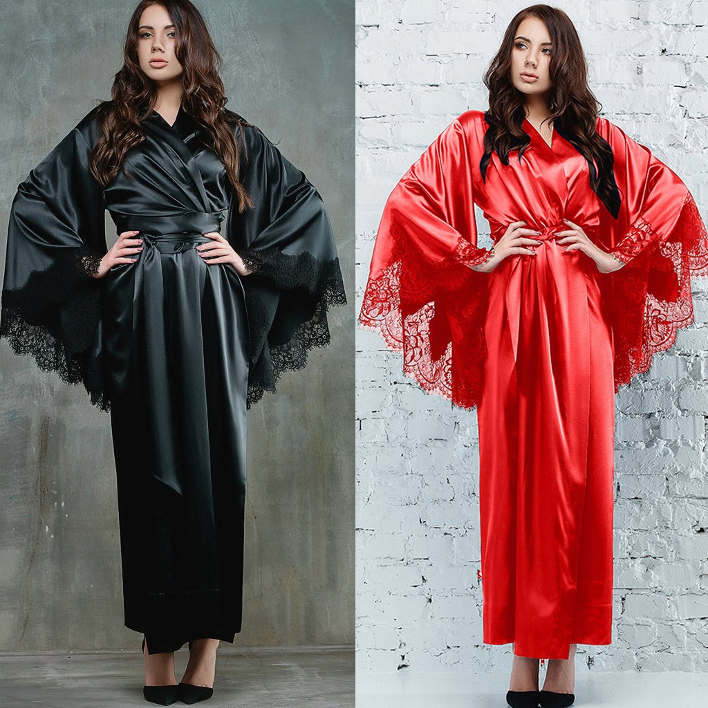 7864be96111 top 10 most popular lingerie robes silk brands and get free shipping ...