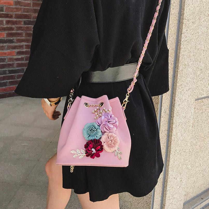 06da0e3177e ... Women Evening Bag Ladies Flower Wedding Clutches Female Pink Black  Clutch Purse Applique Flower Pearl Leather
