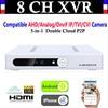 New CCTV 8CH Channel 1080P NVR AHD TVI CVI DVR 1080N 5 In 1 Video Recorder