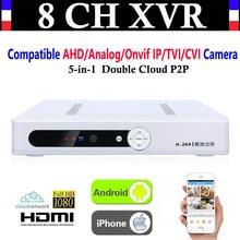 Neue CCTV 8CH Kanal 1080 p NVR AHD TVI CVI DVR + 1080N 5-in-1 Video Recorder kompatibel AHD/Analog/Onvif IP/TVI/CVI Kamera