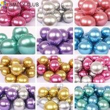 Chrome Metallic Balloon 50pcs/lot 12 Inch Thicken 3.2g Latex Wedding Birthday Party Decor Helium Big Round Ball