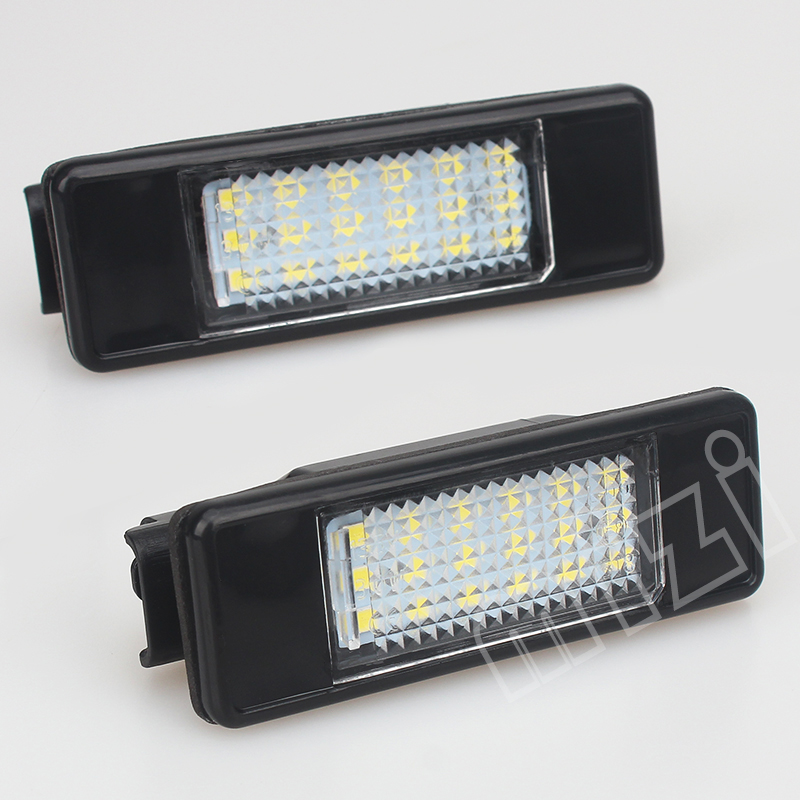 2pcs Car Styling For Peugeot 106 207 307 308 406 407 508 For Citroen C2 C3 C4 18SMD Number License Plate Light Car LED Lamp eonstime 2pcs canbus 18smd led number license plate light lamp for hyundai i30 gd 2013 2014 2015 auto car styling