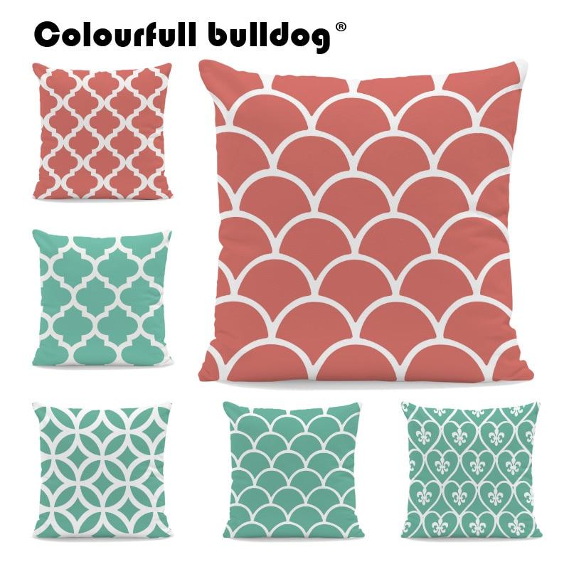 Diamond Line Cushions Love Quatrefoil Pillow Cases Orange Wave Decor Backyard Rock Chair Baby Gifts Pillowslip Cover 45Cm Velvet