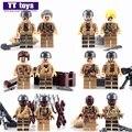 10 Lotes de D903 Bioquímicos Guerra Soldado Militar EE.UU. VS Zombie Con armas Mini Muñecas Modelo de Bloques de Construcción de Ladrillo de Juguete Guerra Mundial 2