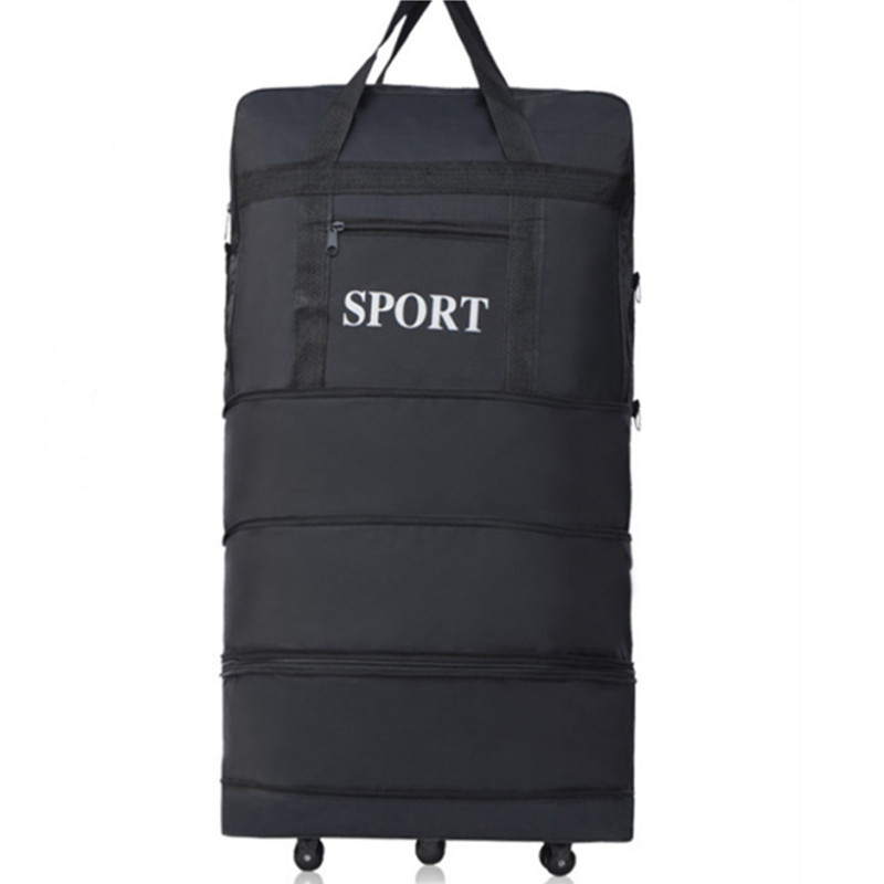 KUDUI New Large capacity Three Tier Expandable folding Oxford cloth Bag universal wheel Consignment by Air travel luggage bagsKUDUI New Large capacity Three Tier Expandable folding Oxford cloth Bag universal wheel Consignment by Air travel luggage bags
