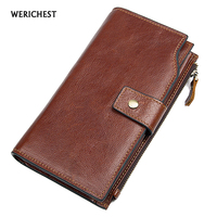 New Europe Brand Wallet Long Creative Unisex Card Holder Casual Zip Ladies Clutch Genuine Leather Clutch Coin Purse Carteiras