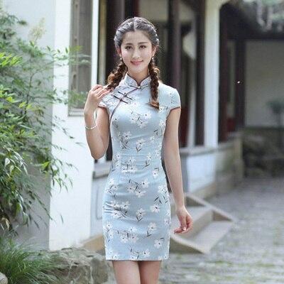2018 جديد الجوخ القطن مثير تشيباو اللباس التقليدي الصيني الرجعية فتاة شيونغسام فساتين السهرة ثوب رداء الصينية