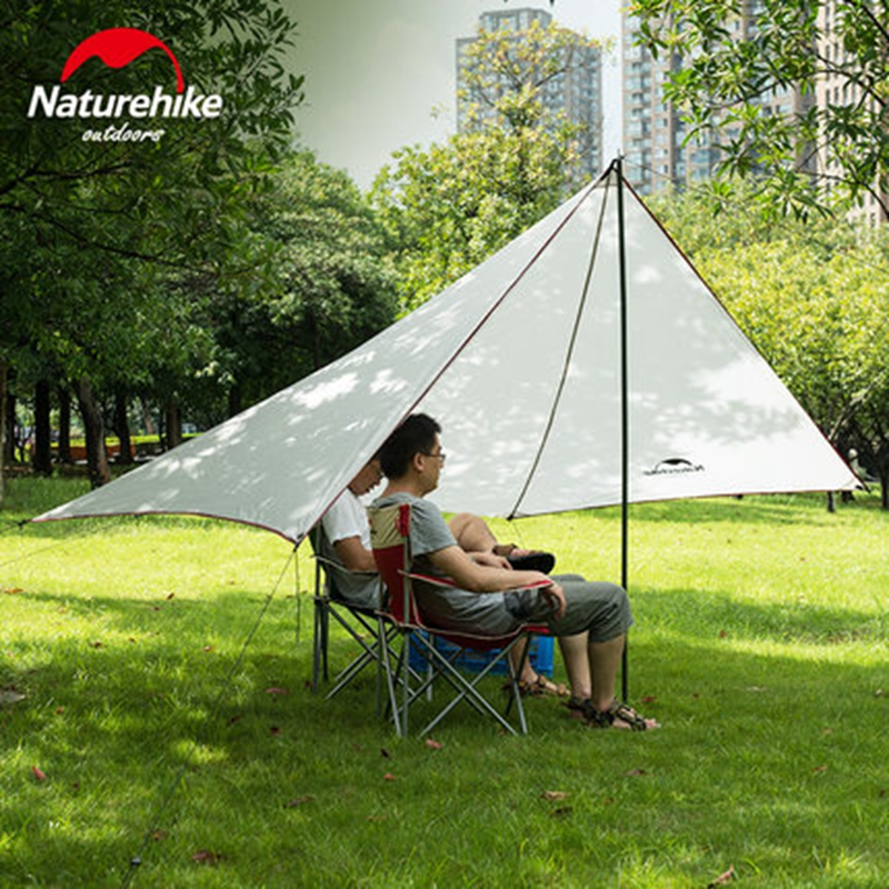 Naturehike Sun Shelter Waterproof Awning Canopy Tent Beach Tent Beach Shade Tarp Pergola Camping Sunshade Anti UV Gazebo 0.57KG large outdoor camping pergola beach party sun awning tent folding waterproof 8 person gazebo canopy camping equipment