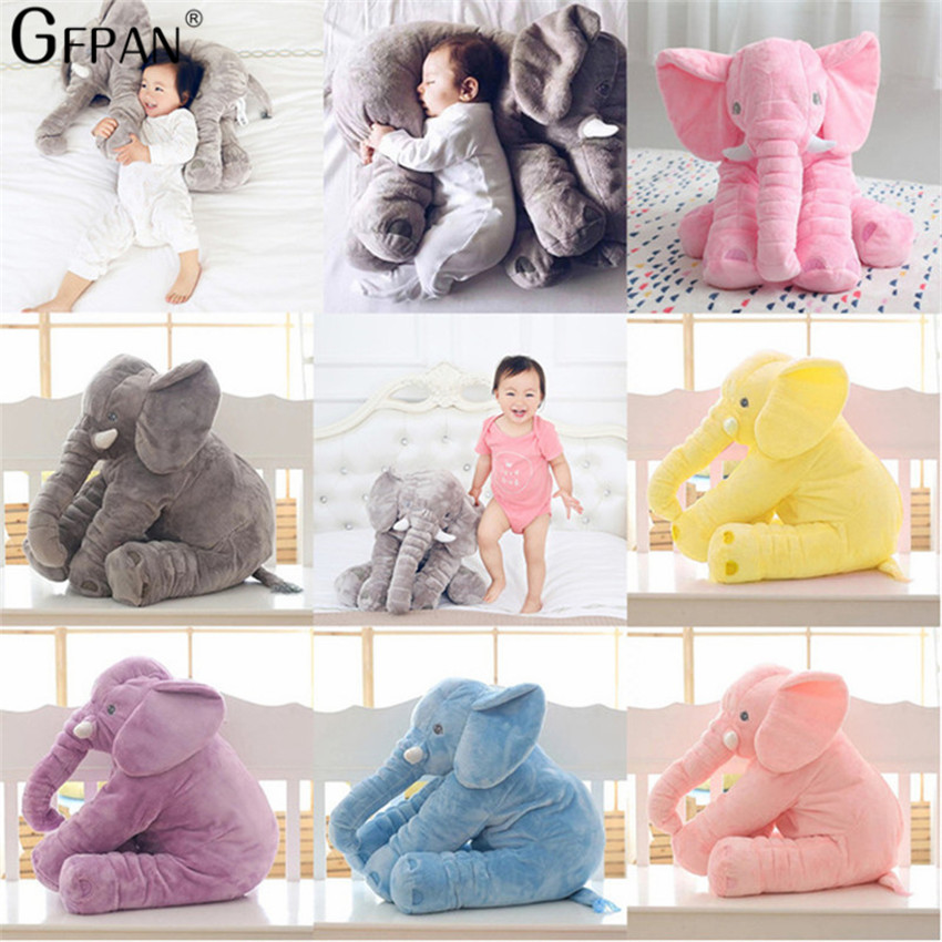1pcs 40/60cm Stuffed Soft Pillow Elephant Doll Baby Sleep plush Toys Room Bed Decoration Sleeping Back Cushion Best Gift for Kid northern europe style double 3d printing ins doll plush sofa stuffed animal child toys birthday xams gift dash pillow cushion