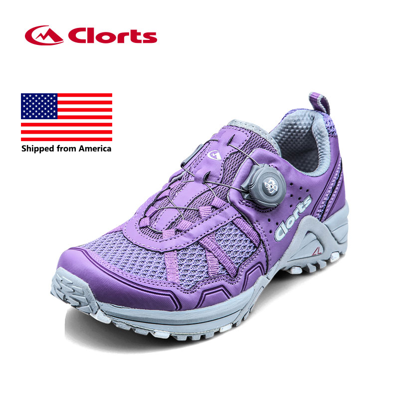 Shipped From USA Clorts Women Running Shoes Lightweight BOA Lacing Outdoor Shoes Breathable Sport Running Sneakers 3F013 2017 clorts men running shoes boa fast lacing lightweight outdoor sport shoes breathable mesh upper for men free shipping 3f013b