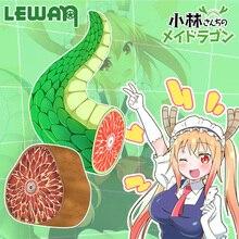 Anime Miss Kobayashi delle Drago Cameriera Tohru Cosplay Coda Peluche Cuscino Farcito Cuscino Giocattoli Complementi Arredo Casa Da Collezione Collezione Regalo