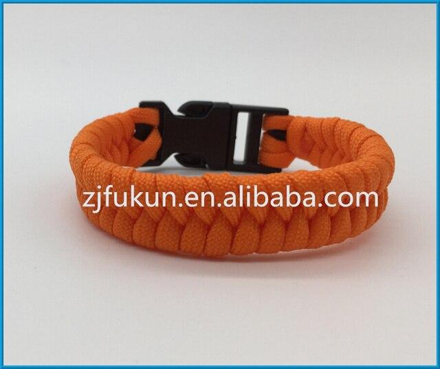 Hot Fishtail Survival Paracord Bracelet 7 Strands Handmade Weave Plastic Buckle