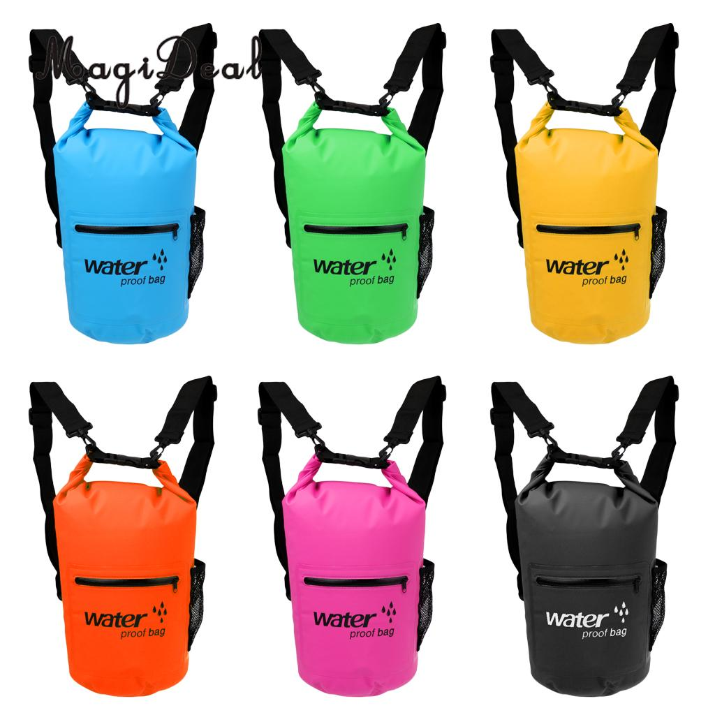 MagiDeal Waterproof Dry Bag Swim Rafting Kayaking Sailing Canoe Backpack for Camping Hiking Cycling Acce 10L/20L Various Colors
