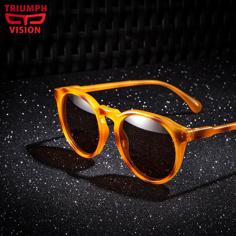 2043f4045916f TRIUMPH VISÃO Polarizd Tartaruga Projeto Retro Rodada óculos de Sol Das  Mulheres Dos Homens Unisex Do