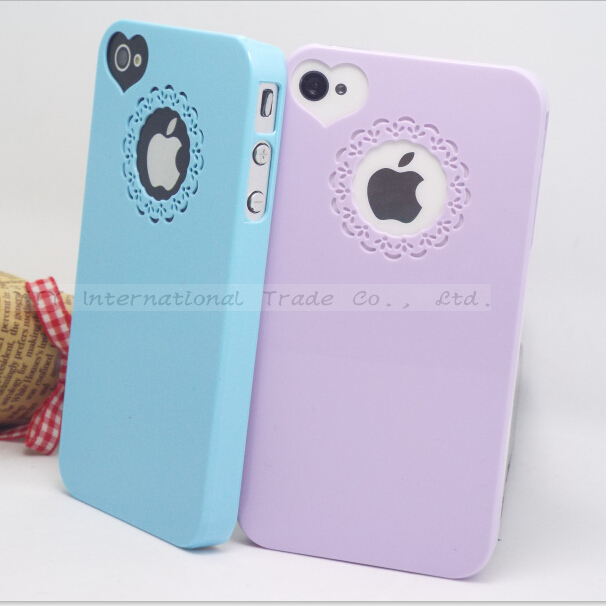 4/4S Cute Color Phone Cases Apple iPhone 4 4S Case iPhone4S Shell Logo Show 2016 Newest Arrival Hot Sold! - Mobile Accessories/Case And Mp3 Store store