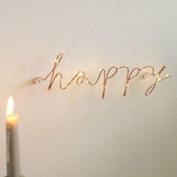 1 pc 와이어 편지 홈 장식 인테리어 벽 로그인 선물 사랑 해피 주방 거실 벽 장식 문자 및 번호 6 스타일