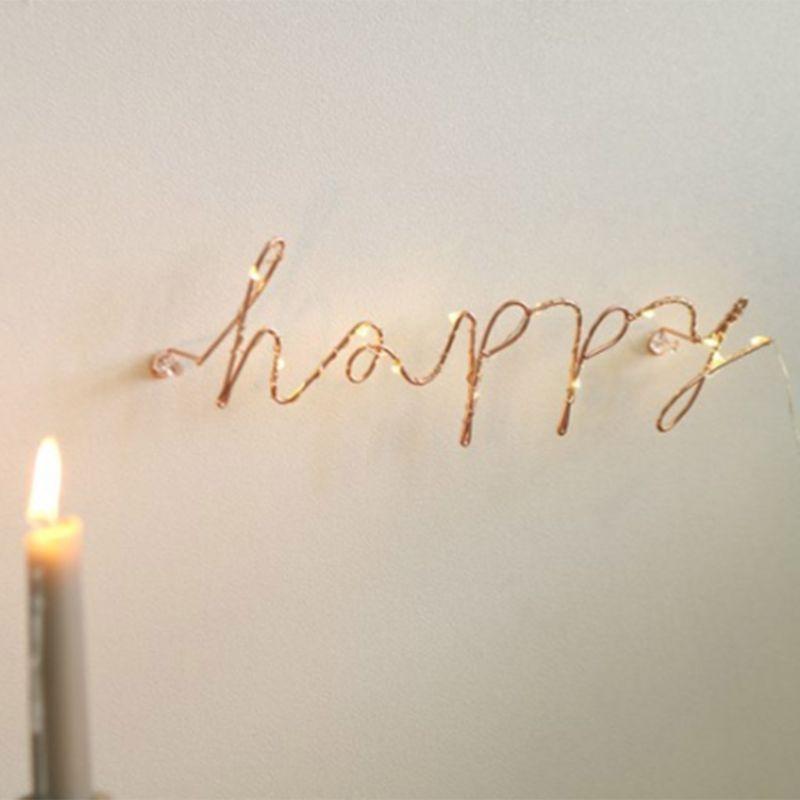 1 шт. проволочные буквы, домашний декор, настенный знак для интерьера, подарок для счастливой кухни, гостиной, декоративные буквы и цифры, 6 ст...