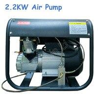 220 V 2.2KW Hava Pompası Çift Silindir Elektrikli Hava Pompası Yüksek Basınç Airgun Tüfek için Paintball Hava Kompresörü