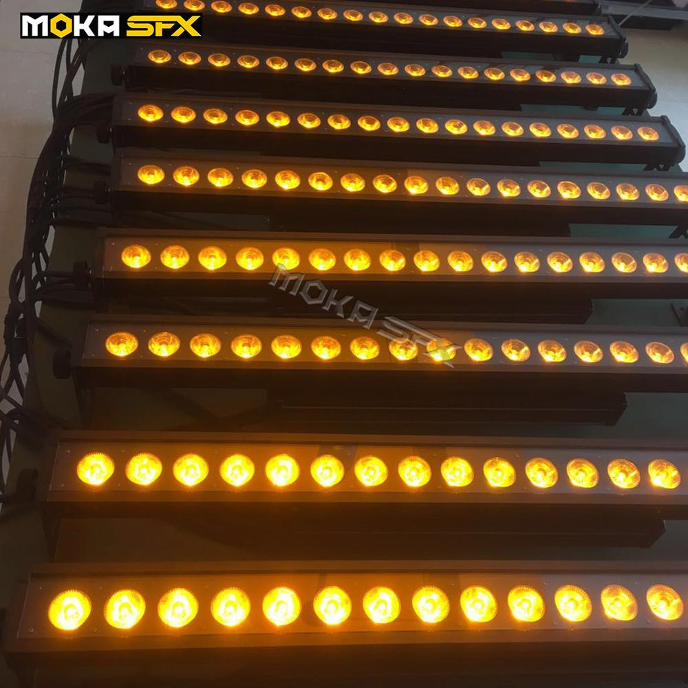 6pcs/lot 18x18w Waterproof Wall Wash Light RGBWA UV 6 IN 1 LED Wall Washer Lights Stage Lighting Effect For Wedding Party Show