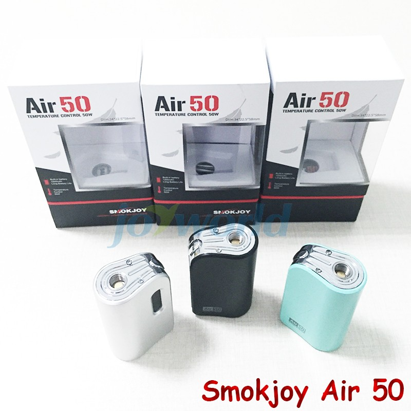 100%Electronic Cigarette Smokjoy Air 50W TC  VW Box Mod 1200mAh Build In Battery 7-50w Tiny Size SmokJoy air 50 VS evod mega YY (5)