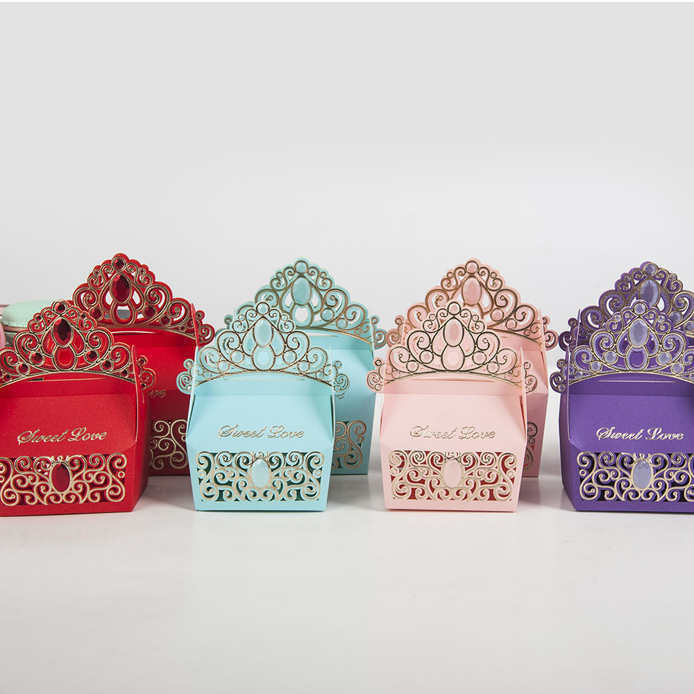 Wedding Gift Packaging: 10pcs High Quality Wedding Dragee Box Colorful Cake