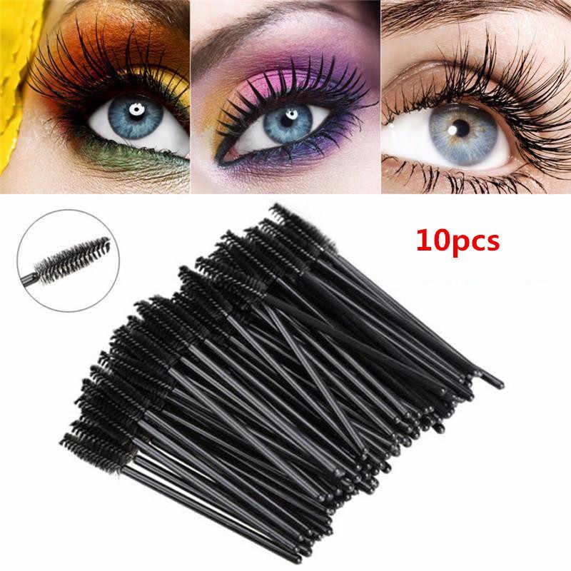 1 pc/10 pces/50 pces cílios descartáveis mini escova de rímel aplicador varinha maquiagem escovas olhos lábio cosméticos escovas
