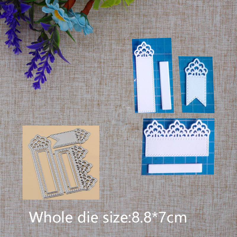 New Arrival Lacey Tags Metal Steel Cutting Dies Stencil DIY Scrapbook Decorative Photo Album Embossing Paper Card Craft 88x70mm in Cutting Dies from Home Garden