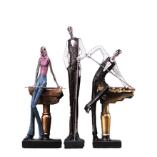 ФОТО modern simple billiards characters resin crafts ornaments home decoration accessories billiards figurine sports miniature gifts