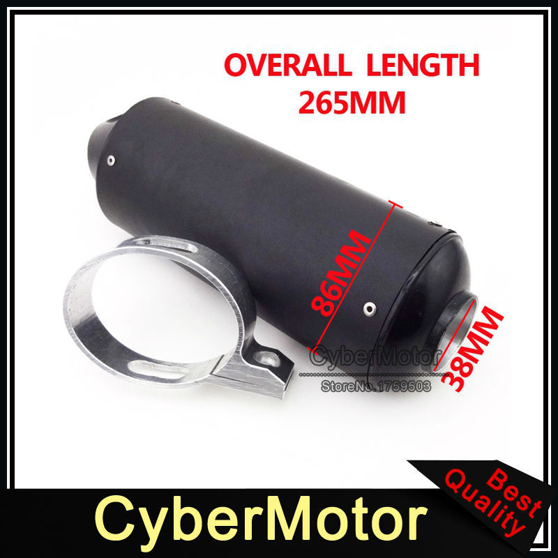 цена на Motorcycle Black 38mm Exhaust Muffler For 110cc 125cc 140cc 150cc 160cc CRF50 XR50 KLX110 Thumpstar SSR Pit Dirt Trail Bike