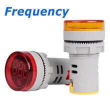 Medidor de frecuencia Digital de 20-70Hz, 22mm, medidor de Hertz con pantalla de LED individual, fuente de alimentación de tipo redondo 80-500VAC