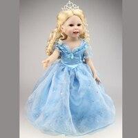 2015 Dziewczyna Prezenty Hot Sprzedaż Pełna Silikon 18 Cal Miękki Winyl Lalka Księżniczka Kopciuszek Lalki Zabawki