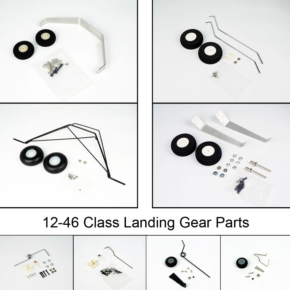 Free Shipping Landing Gear for RC Airplane 12-46 Grade Aluminum Lading Gear with Wheel Spare Parts Set for RC Plane Cessna Model image