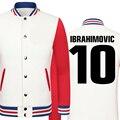 2016 World Cup Zlatan Ibrahimovic thick velvet baseball uniform men's Jackets college jacket boys big size men clothing