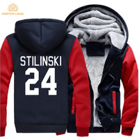 TV Show Teen Wolf Stilinski 24 Thicken Men Sweatshirt 2017 Spring Winter Warm Fleece Hoodies Men
