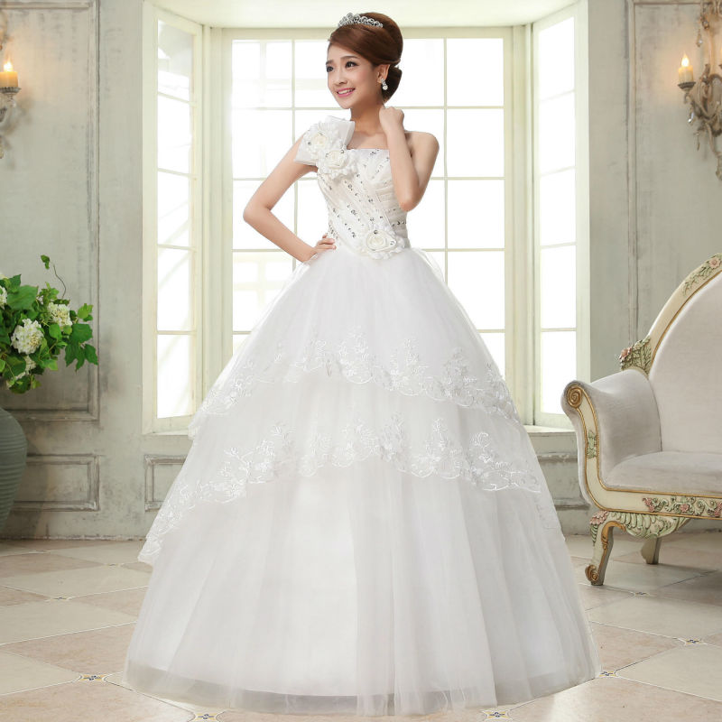 Aliexpress.com : Buy Bridal White Ball Gown Wedding Dresses ...