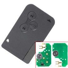 Eccellente Qualità (1 pezzo) 3 pulsante di ricambio remote card per R enault Megane Smart Card con pcf7947 circuito integrato senza logo
